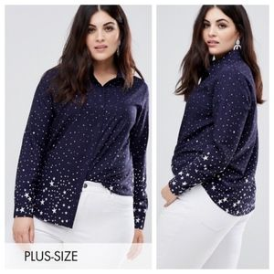 ASOS Brave Soul Plus Star Print Shirt